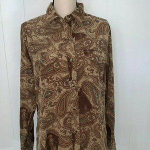Bit and Bridle horse print western blouse